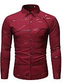 baratos Camisas Masculinas-Homens Camisa Social Boho Geométrica Preto