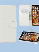 baratos Cases & Capas-Capinha Para Samsung Galaxy A6 (2018) / A6+ (2018) / Galaxy A7(2018) Carteira / Porta-Cartão / Com Suporte Capa Proteção Completa Sólido PU Leather