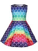 Χαμηλού Κόστους Φούτερ και φούτερ με κουκούλα για κορίτσια-Παιδιά Κοριτσίστικα Συνδυασμός Χρωμάτων Φόρεμα Ουράνιο Τόξο