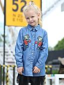 povoljno Džemperi i kardigani za djevojčice-Djeca Djevojčice Osnovni Cvjetni print Dugih rukava Majica Plava