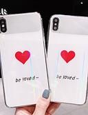 baratos Capinhas para iPhone-Capinha Para Apple iPhone XS / iPhone XR / iPhone XS Max Espelho / Ultra-Fina / Estampada Capa traseira Palavra / Frase / Coração TPU