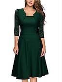 baratos Vestidos Vintage-Mulheres Vintage balanço Vestido Listrado Médio