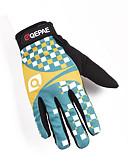 baratos Smart watch-QEPAE Inverno Luvas de Ciclismo Térmico / Quente Anti-Shake Vestível Anti-Derrapante Dedo Total Luvas Esportivas Azul + amarelo para Adulto Ciclismo de Estrada Exercicio Exterior Luvas de Actividade