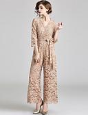 povoljno Ženski jednodijelni kostimi-Pantsuit V izrez Do gležnja Čipka Formalna večer Haljina s Mašna / Čipka po LAN TING Express / Iluzija