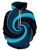billige Hettegensere og gensere til herrer-Herre Store størrelser Fritid / Gatemote Med hette Hattetrøje Geometrisk / 3D