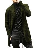 baratos Suéteres & Cardigans Masculinos-Homens Sólido Manga Longa Carregam Camisola Jumper, Decote Redondo Outono / Inverno Preto / Azul / Verde US32 / UK32 / EU40 / US34 / UK34 / EU42 / US36 / UK36 / EU44