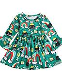 Χαμηλού Κόστους Φούτερ και φούτερ με κουκούλα για κορίτσια-Παιδιά Κοριτσίστικα Κινούμενα σχέδια Χριστούγεννα Φόρεμα Πράσινο του τριφυλλιού