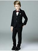 povoljno Kompletići za dječake-Djeca Dječaci Osnovni Jednobojni Dugih rukava Komplet odjeće Crn