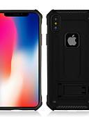 baratos Cases & Capas-Capinha Para Samsung Galaxy S9 / S9 Plus / S8 Plus Antichoque / Com Suporte Capa traseira Sólido / Armadura PC