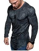 Χαμηλού Κόστους Αντρικά Πουλόβερ & Ζακέτες-Ανδρικά T-shirt Βασικό Γραφική Στάμπα Θαλασσί