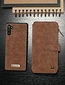 povoljno Maske za mobitele-Θήκη Za Samsung Galaxy Galaxy Note 10 / Galaxy Note 10 Plus Novčanik / Utor za kartice / Otporno na trešnju Korice Jednobojni PU koža