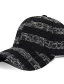 Χαμηλού Κόστους Men's Hats-Ανδρικά Συνδυασμός Χρωμάτων Βασικό Πολυεστέρας Τζόκεϊ Μαύρο Κρασί Λευκό