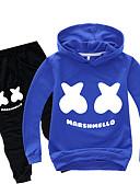 cheap Boys' Clothing Sets-Kids Toddler Boys' Basic Print Print Long Sleeve Regular Regular Clothing Set Black