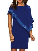 זול תחרה רומטנית-מעל הברך פאייטים, אחיד - שמלה ישרה מידות גדולות לאמא בגדי ריקוד נשים