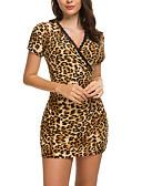 ราคาถูก เมกซิเดรส-สำหรับผู้หญิง เข้ารูป ปลอก แต่งตัว - ลายพิมพ์, ลายเสือ ขนาดเล็ก