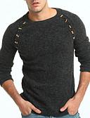 cheap Men's Clothing-Men's Solid Colored Long Sleeve Pullover, Round Neck Camel / Dark Gray US32 / UK32 / EU40 / US34 / UK34 / EU42 / US36 / UK36 / EU44