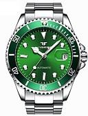 זול שעונים מכאניים-בגדי ריקוד גברים שעון מכני אוטומטי נמתח לבד סגנון פורמלי סגנון מודרני מתכת אל חלד כסף 50 m עמיד במים זוהר בחושך אנלוגי פאר אופנתי - שחור ירוק פול