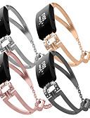 olcso Smartwatch sávok-Nézd Band mert Fitbit Inspire HR / Fitbit Inspire FitBit Ékszer dizájn Rozsdamentes acél Csuklópánt