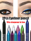 Χαμηλού Κόστους μακιγιάζ βούρτσα σύνολα-2pcs πολύχρωμο χρωστική μακράς διάρκειας αδιάβροχο eyeliner μολύβι μόδα μακιγιάζ μακιγιάζ καλλυντικά