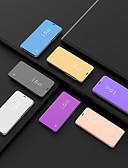 baratos Capinhas para Huawei-Capinha Para Huawei Huawei P Smart 2019 / Huawei Mate 20 lite / Huawei Mate 20 pro Com Suporte / Espelho Capa Proteção Completa Sólido PU Leather / PC