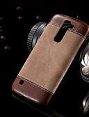 billige iPhone-etuier-Etui Til LG LG K10 / LG K8 / LG K7 Ultratynn Bakdeksel Ensfarget PU Leather / PC