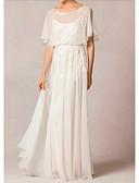 Χαμηλού Κόστους Φορέματα κοκτέιλ-Γραμμή Α Με Κόσμημα Ουρά Σιφόν Κοντομάνικο Φορέματα γάμου φτιαγμένα στο μέτρο με Που καλύπτει 2020