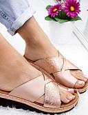 billige Samsung-tilbehør-Dame Sandaler Flat hæl Rund Tå Mikrofiber Sommer Svart / Hvit / Lilla