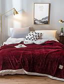 povoljno Obiteljski komplet odjeće-Posteljina deke / Bacanje kauča / Višenamjenske deke, Jedna barva Flanel Flis / Poliester Udoban Jako mekano pokrivači