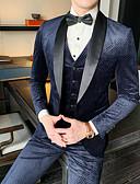 povoljno Smokinzi-Tuxedos Standardni kroj Maramasti ovratnik Droit 1 bouton Poliester Karirano / kockasto