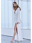 baratos Vestidos Longos-Mulheres Elegante Bainha Vestido - Paetês Patchwork, Sólido Longo