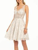 Χαμηλού Κόστους Φορέματα κοκτέιλ-Γραμμή Α Λεπτές Τιράντες Κοντό / Μίνι Δαντέλα Ανοικτή Πλάτη Κοκτέιλ Πάρτι Φόρεμα 2020 με Εισαγωγή δαντέλας