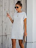 povoljno Ženske haljine-Tunika Žene - Osnovni Vikend Jednobojni Kolaž Bijela Obala