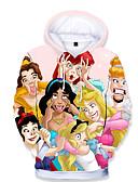 billige Bluser-Barn Baby Jente Grunnleggende Trykt mønster Trykt mønster Langermet Hettegenser og sweatshirt Regnbue