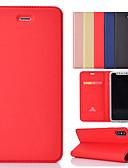 baratos Capinhas para iPhone-caso para apple iphone xs / iphone xr / iphone xs max / 7 8 plus / 6 splus / 6 s carteira / titular do cartão / com estande casos de corpo inteiro de couro pu colorido sólido