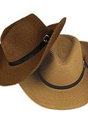 זול כובעים לגברים-חום בהיר לבן צהוב כובע שמש אחיד פוליאסטר בסיסי בגדי ריקוד גברים