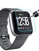 זול מגן מסך נייד-מגן מסך עבור fitbit versa / fitbit versa lite זכוכית מחוסמת 9 קשיות קשיחות להתקנה קלה עבור fitbit versa / fitbit versa lite 2 יחידות