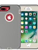baratos Capinhas para iPhone-Capinha Para Apple iPhone 8 Plus Antichoque / Anti-poeira Capa traseira Sólido TPU