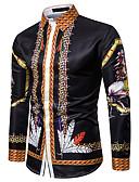 billige Herreskjorter-Skjorte Herre - Fargeblokk Grunnleggende Regnbue