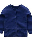 povoljno Džemperi i kardigani za bebe-Dijete Djevojčice Aktivan / Osnovni Print Dugih rukava Džemper i kardigan Blushing Pink