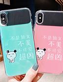 baratos Capinhas para iPhone-Capinha Para Apple iPhone XS / iPhone XR / iPhone XS Max Espelho / Ultra-Fina / Estampada Capa traseira Palavra / Frase / Desenho Animado TPU / PC