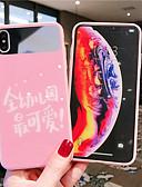 baratos Capinhas para iPhone-Capinha Para Apple iPhone XS / iPhone XR / iPhone XS Max Espelho / Ultra-Fina / Estampada Capa traseira Palavra / Frase / Desenho Animado Vidro Temperado