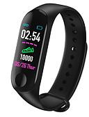 Χαμηλού Κόστους Καλώδια & Φορτιστής-Έξυπνο ρολόι Ψηφιακό Μοντέρνο Στυλ Αθλητικό σιλικόνη 30 m Ανθεκτικό στο Νερό Συσκευή Παρακολούθησης Καρδιακού Παλμού Bluetooth Ψηφιακό Καθημερινό Υπαίθριο - Μαύρο Κόκκινο Μπλε