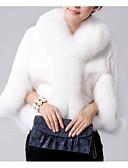 cheap Women's Fur & Faux Fur Coats-Women's Daily Basic Regular Faux Fur Coat, Solid Colored Turndown Long Sleeve Faux Fur Black / White