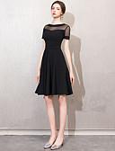 Χαμηλού Κόστους Φορέματα κοκτέιλ-Γραμμή Α Με Κόσμημα Κοντό / Μίνι Spandex / Δαντέλα Φανταχτερό / Κομψό Κοκτέιλ Πάρτι / Αργίες Φόρεμα 2020 με