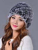 povoljno Ženski šeširi-Žene Jednobojni Osnovni Poliester-Šešir širokog oboda Red Sive boje