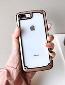 baratos Capinhas para iPhone-Capinha Para Apple iPhone 8 Plus / iPhone 8 / iPhone 7 Plus Antichoque / Ultra-Fina Capa traseira Sólido TPU