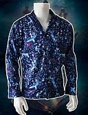 Χαμηλού Κόστους Αξεσουάρ-Ξέγαινα πράγματα Κοστούμια με Θέμα Ταινίες & Τηλεόραση Μπλούζα / Πουκάμισο Ανδρικά Στολές Ηρώων Ταινιών Χαλάρωση Halloween Μπλε Μπλούζα Halloween Τεχνητό μετάξι