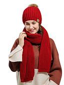povoljno Ženski šeširi-Žene Jednobojni Osnovni Poliester-Šešir širokog oboda Red