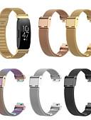 baratos Bandas de Smartwatch-Pulseiras de Relógio para Fitbit Inspire HR / Fitbit Inspire Fitbit Pulseira Esportiva Aço Inoxidável Tira de Pulso