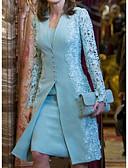 baratos Renda Romântica-Mulheres Básico Renda Duas Peças Vestido - Renda Decote em V Profundo Altura dos Joelhos